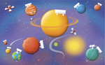 Name The Planets mural