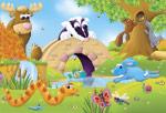 Animal Opposites mural