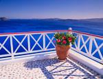 Forever Blue Santorini mural