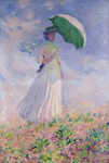Lady With Parasol Facing Right mural
