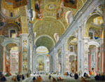 Interior Of St Peters Rome C 1754 mural
