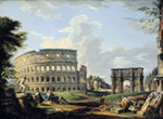 The Colosseum And The Arch Of Constantine mural