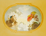 Ceiling Depicting Apotheosis-Golden mural