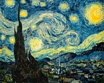 Starry Night Van Gogh mural