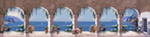 Mediterranean Arch - Panoramic mural