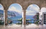 Mediterranean Arch Sans Foliage mural