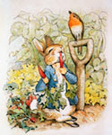 Peter Rabbit Eating Radishes