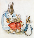 Mrs Rabbit With Flopsy Mopsy Cotton-Tail  Peter