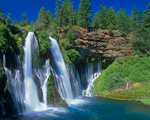 Burney Falls - California mural
