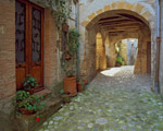 Cobblestone Passage Tuscany mural