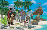 Skull Island mural