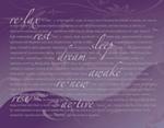 Restful-Purple mural