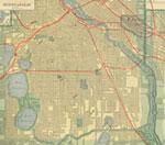 Vintage Minneapolis Map mural