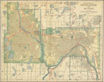 Vintage Minneapolis St Paul Map