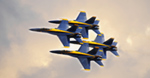 Blue Angels In Clouds