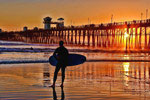 Oceanside Pier Sunset California