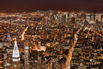 New York City Night HDR mural