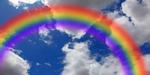 Rainbow Cloudy Sky mural