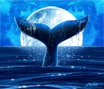 Moonlight Whale mural