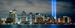 Lower Manhattan With 911 Towers Of Light mural