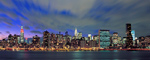 New York Skyline At Dusk Panorama