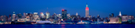 New York Skyline At Night Panorama