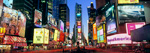 Panoramic View Of Times Square At Dusk