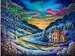 Snow mural