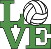 Love Volleyball - Green mural
