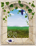 Wine Country Afternoon mural