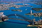 Sydney Harbor Bridge-Aerial mural