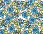 Sonyas Flowers Blue mural