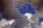 Clouds I mural