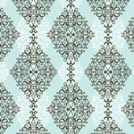 Diamond Damask - Blue mural