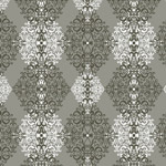 Diamond Damask - Gray mural