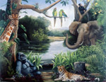 Jungle Friends Hetzer mural