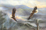 Smoky Mountain Courtship mural