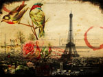 Vintage Paris Birds