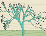 Retro Tree mural