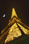 Eiffel Tower with Moon mural