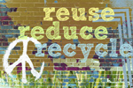 Reuse Reduce Recycle mural