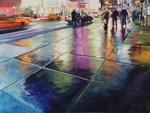 Neon Rain mural