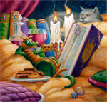 Curl Up With A Good Book mural