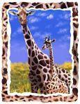 Giraffe Love mural