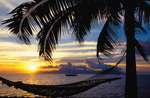 Sunset Over Moorea French Polynesia 2