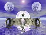Twin Moons Of Aquies mural