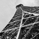 Eiffel Tower- Grayscale mural