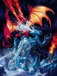 Fire And Ice Dragon mural