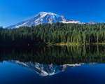 Mount Rainier And Mirror Lake mural