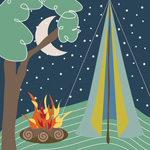 Camping mural